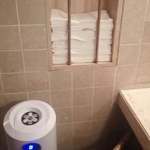 お手洗いにタオルがあったのが驚きました
