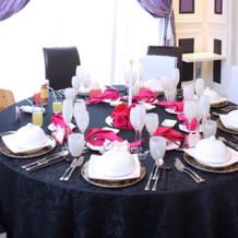 黒とピンクで統一!