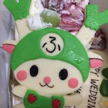 持ち帰ったウェディングケーキの一部