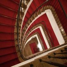 圧巻のらせん階段