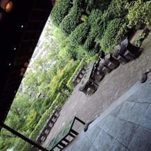 庭からの入場