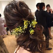 カラードレス時のヘア