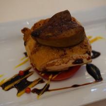 鶏肉とフォアグラの前菜