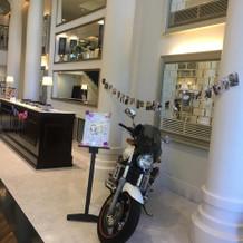 バイクを飾りました