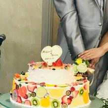 ケーキは希望を忠実に再現してくれます