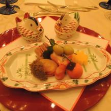 和食の前菜は季節の食材がいっぱいです。