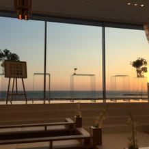 夕方チャペルからの景色。