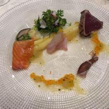 前菜、ホワイトアスパラガス