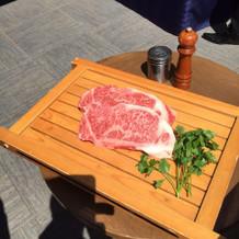お肉を焼いてもらって大好評でした。