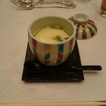 ユリ根の茶碗蒸し