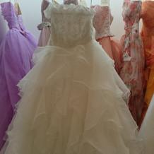 ふわふわと可愛いドレス