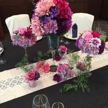 テーブルお花