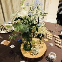 試食会のテーブル周りの装飾です。