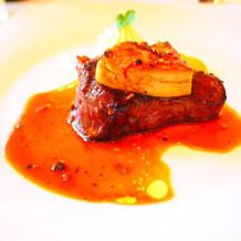 お肉とフォアグラが特に評判良かったです!