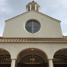北野教会のチャペルを出てすぐの写真です