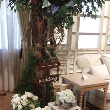 高砂ソファーの横の装飾