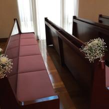 北野教会の参列者の座席です