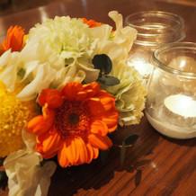 各卓のお花