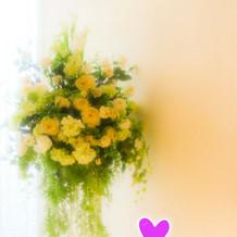 チャペルに飾られていた花