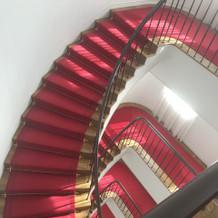 ここで撮影もできるらしい階段です。