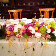 季節の花や好きな花で装花を作れる