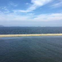 天気がいいときは大島が見えるそうです