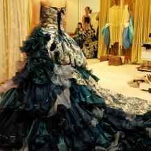 本番できたドレス
