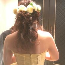 花冠を付けました。