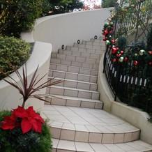 ガーデン階段