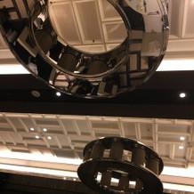 披露宴会場天井の装飾