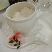 鯛茶漬け(ご飯が少しかためでした