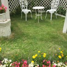 ガーデンスペースもありました!