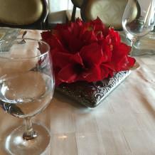 テーブルも素敵