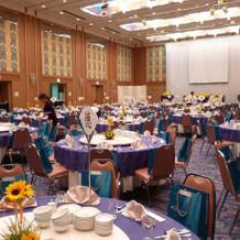 招待客200名の披露宴会場