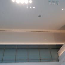 天井が高いです。