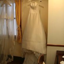 控え室でのドレスです