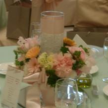 テーブルのお花です。