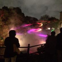 12月の庭園のイベントは夕方から