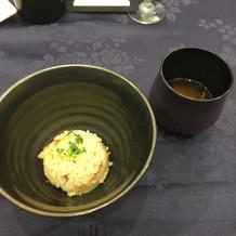 河豚炊き込みご飯と赤出汁