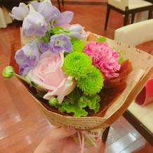 ゲストにお花のプレゼント