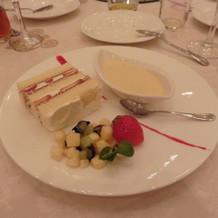ケーキとデザート