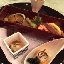 プラザ棟の料理和洋(試食)