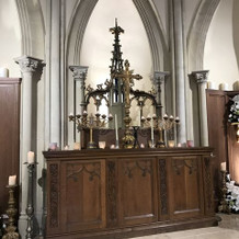 チャペル内、祭壇?の部分