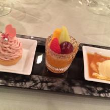 プラザ棟の料理デザート2(試食)