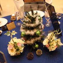 1卓ずつ置いたクリスマスツリー3