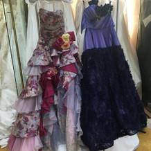 ドレスのタイプも豊富