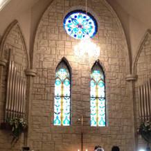 広く開放感がある教会
