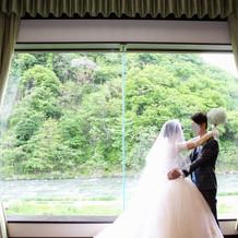 窓からの景色が素晴らしかったです