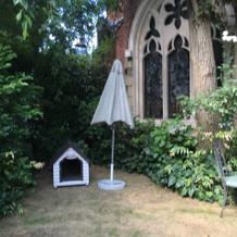 庭、犬小屋もあります
