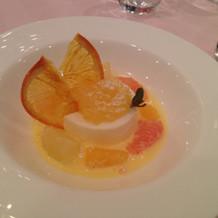 柑橘ジュレとブラマンジェ
